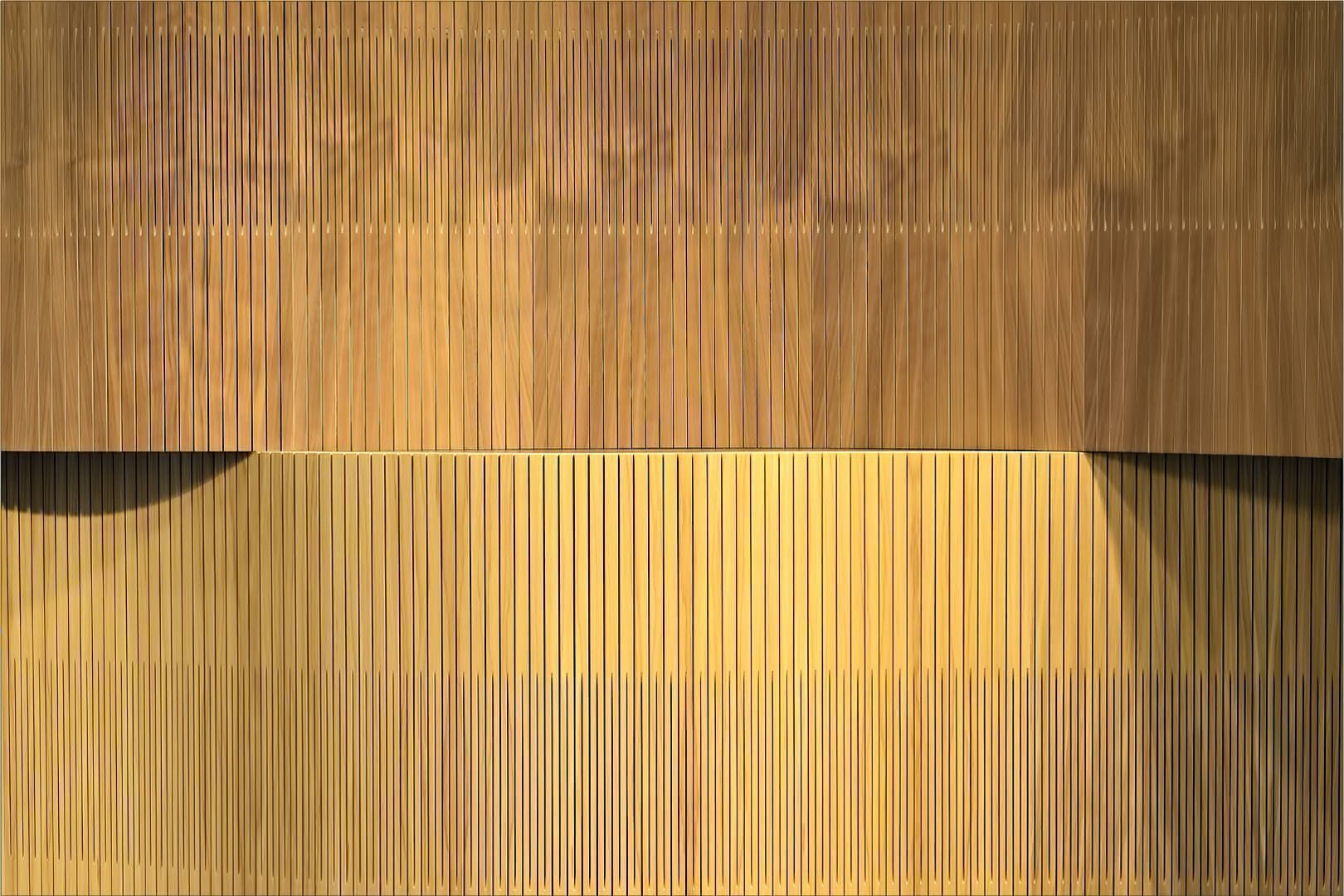 acoustic wood undulating like wave in detail