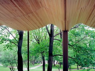 Curved: Wood Ceiling Like Alvar Aalto